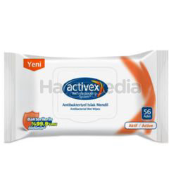 Activex Wet Wipes Anti-Bacteria With Lid 56s