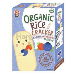 Apple Monkey Organic Rice Cracker Blueberry Strawberry 30gm
