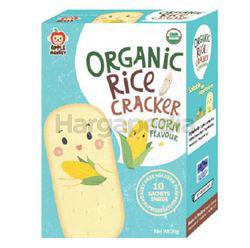 Apple Monkey Organic Rice Cracker Corn 30gm