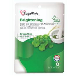 Happy Mask Green Cica Niacinamide Brightening Face Mask 1s
