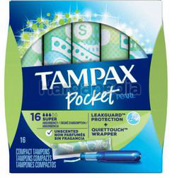 Tampax Pearl Plaster Super Absorbency Unscented 16s