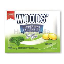 Woods' Peppermint Drops Sugar Free Lemon 15gm 6s