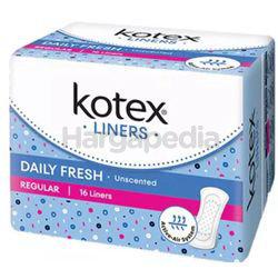 Kotex Fresh Pantyliner Regular Unscented 16s