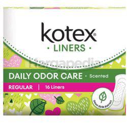 Kotex Fresh Daily Odor Care Pantyliner Regular Scented Daun Sirih 16s