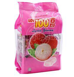Lot 100 Gummy Lychee 150gm