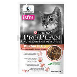 Purina Pro Plan Adult Derma Plus Salmon Wet Cat Food Pouch 85gm