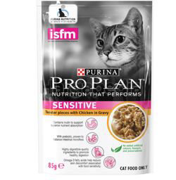 Purina Pro Plan Adult Sensitive Skin Chicken Wet Cat Food Pouch 85gm