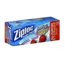 Ziploc Ez Zip Storage Gallon 25s