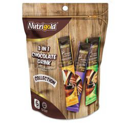 Nutrigold 3 in 1 Chocolate Drink Collection 6x30gm