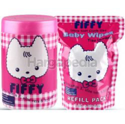 Fiffy Baby Wipes Pink 100s + Refill 100s