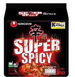 Nong Shim Super Spicy Ramyun Noodle 5x120gm