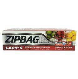 Lacy's Zipbag Storage & Freezer Bags 25s+5s