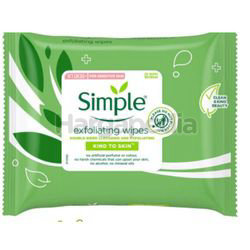 Simple Exfoliating Cleansing Facial Wipes 25s