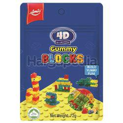 Amos 4D Gummy Blocks 72gm