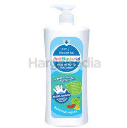 Follow Me Anti Bacterial Kids Head To Toe Wash Bursting Melon 800ml