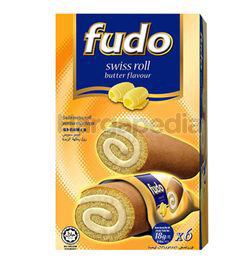 Fudo Butter Flavours Swiss Cake Roll 6x18gm