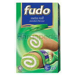 Fudo Pandan Flavours Swiss Cake Roll 6x18gm