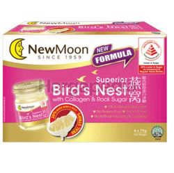 New Moon Superior Birds Nest With Collagen With Rock Sugar 6x75gm