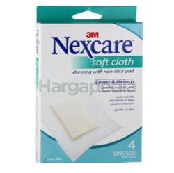 3M Nexcare Waterproof Soft Cloth Non-Stick Pad 4s