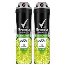 Rexona Men Deodorant Spray Fresh Lime 2x150ml