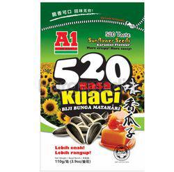 A1 520 Taste Sunflower Seeds Caramel Flavour 110gm