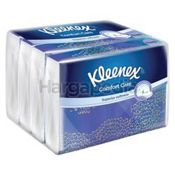 Kleenex 3ply Soft Pack Tissues Comfort Care 4x50s