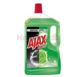 Ajax Boost Floor Cleaner Charcoal & Lime 2lit