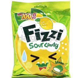 Lot 100 Fizzi Sour  Lemon Candy 120gm