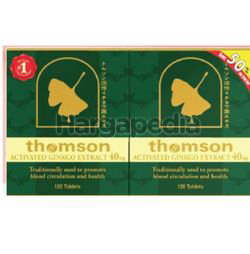 Thomson Activated Ginkgo 40mg 2x120s