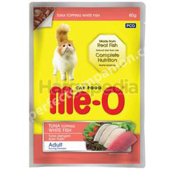 Me-O Cat Pouch Tuna Topping White Fish 80gm