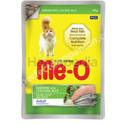 Me-O Cat Pouch Sardine With Chicken & Rice 80gm