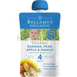 Bellamy's Organic Banana,Pearl, Apple & Mango Porridge 120gm