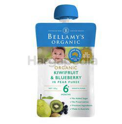 Bellamy's Organic Kiwifruit & Blueberry In Pear Puree 120gm