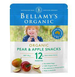Bellamy's Organic Pear& & Apple Snacks 20gm
