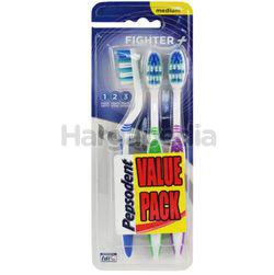 Pepsodent Fighter Medium Toothbrush 2s+1s