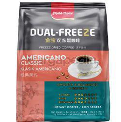 Gold Choice Dual-Freeze Americano Classic Black Coffee 30x2gm