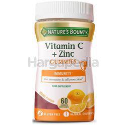 Nature's Bounty Vitamin C Zinc Gummies 60s