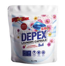 Depex Laundry Liquid Capsule Detergent Softpack 3x10gm