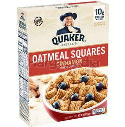 Quaker Oatmeal Squares Breakfast Cereal Cinnamon 411gm