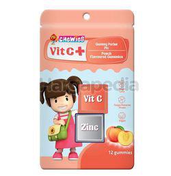 Chewies Vit C + Zinc Gummy Peach 12s