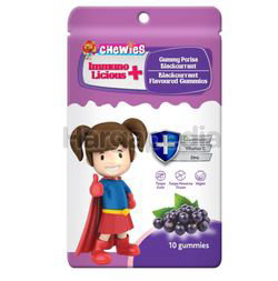 Chewies Immuno Licious Blackcurrant Flavours 10s