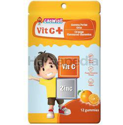 Chewies Vit C + Zinc Gummy Orange 12s