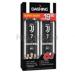 Dashing Deodorant Spray Juventus 7 2x125ml