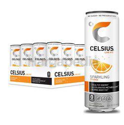 Celsius Sparkling Energy Drink Orange 24x325ml
