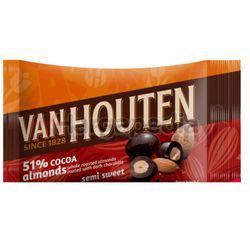 Van Houten Chocolate Semi Sweet Almonds 80gm
