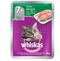 Whiskas 7+ Pouch Cat Food Tuna 80gm