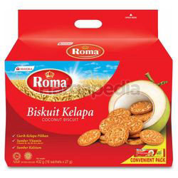 Roma Coconut Biscuit 16x27gm 432gm