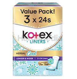 Kotex Herbal Cool Longer & Wider 17.5cm 3x24s