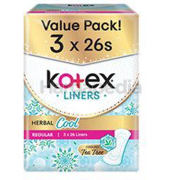 Kotex Herbal Cool Longer & Wider 15cm 3x26s