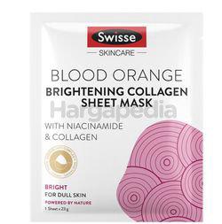 Swisse Blood Orange Brightening Collagen Sheet Mask 23gm 1s